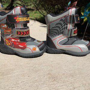 Rare! Disney CARS Snow Boots Kids 11